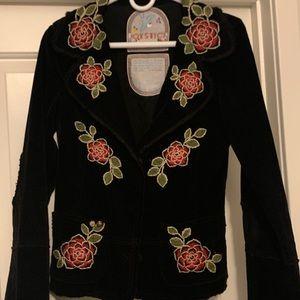 Joystick embroidered corduroy jacket